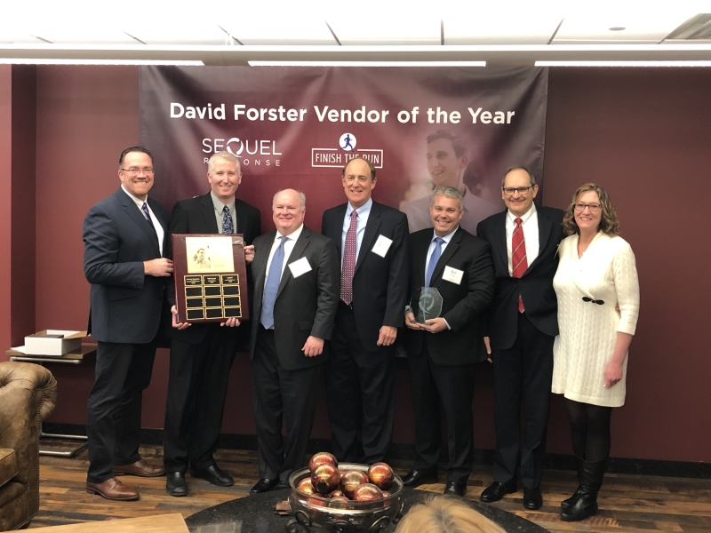 SG360° wins SeQuel'vs 2018 David Forster Vendor of the Year Award