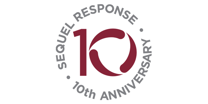 SeQuel Response 10th Anniversary Logo