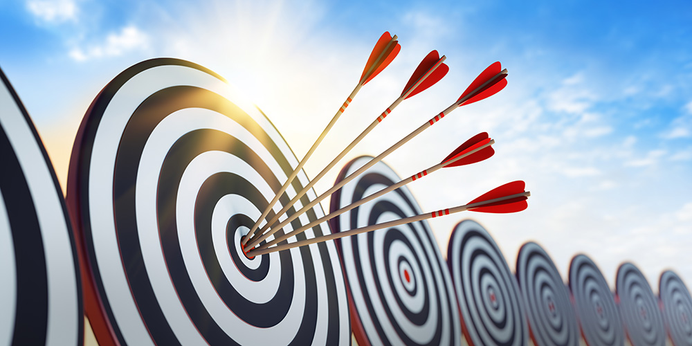 Bullseye depicting targeted direct mail attribution