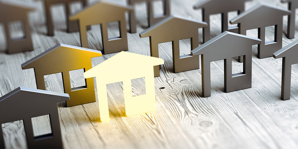 Image of homes representing direct mail testing
